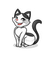 pretty cat vector image vector image