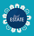 Real estate over blue background vector image vector image
