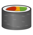 restaurant sushi roll icon cartoon style vector image