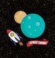 rocket ship space travel vector image vector image