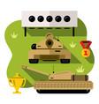 russian tank biathlon concept military vector image