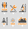 set business sticker icons vector image vector image