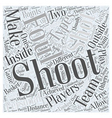 shooting for points word cloud concept vector image vector image