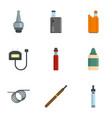 smoke vaping icon set flat style vector image