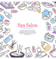 spa treatment salon poster background design vector image vector image