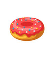 stylized donut vector image