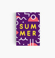 summer mood vertical poster template geometric vector image vector image