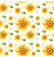sunflower on seamless background vector image