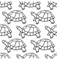 turtle contour pattern vector image vector image