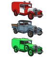 Vintage vehicles vector image vector image
