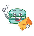 with envelope macaron character cartoon style vector image vector image