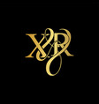xr x r logo initial mark vector image vector image