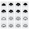black clouds icon set vector image