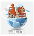 Chile Landmark Global Travel And Journey vector image