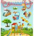 Children playground outdoor games in the park vector image