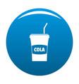 juice icon blue vector image