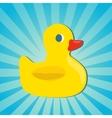 Rubber duck icon vector image