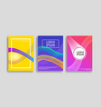 modern covers set vector image