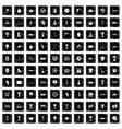 100 awards icons set grunge style vector image