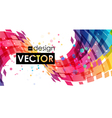 Abstract multicolor curve on white background vector image