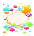 art sky color vector image