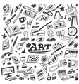 art tools - doodles vector image