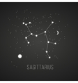 Astrology sign Sagittarius on chalkboard vector image vector image