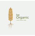 Be organic logo vector image vector image
