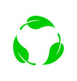 biodegradable icon vector image