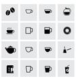 black coffee icon set vector image vector image