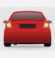 car template on white background vector image vector image