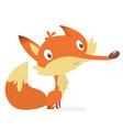 cartoon fox character vector image vector image