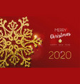 christmas and new year card glitter snowflake vector image vector image
