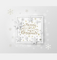christmas greeting card white paper design vector image