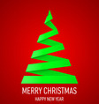 Christmas tree made of folded paper origami 08 vector image vector image