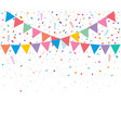 colorful bright confetti isolated vector image vector image