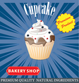 cupcake poster design vector image vector image