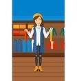 Customer choosing neckties vector image