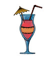 delicious cocktail drink vector image vector image