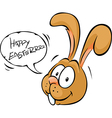 easter bunny wish happy - cartoon isolated vector image vector image