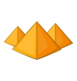 Egyptian pyramids icon cartoon style vector image