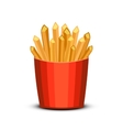 Fast food french fries in paper pac vector image