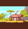 forest ranger background vector image