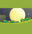 full moon nature background scene vector image