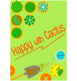 graphics background cactus vector image vector image