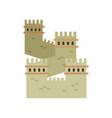great wall of china colored landmark icon in flat vector image vector image