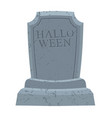 halloween gravestone in cemetery for terrible vector image vector image