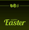 happy easter card with ornaments vector image vector image