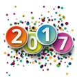 Happy new Year 2016 template background vector image vector image