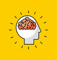 head brain illstration vector image